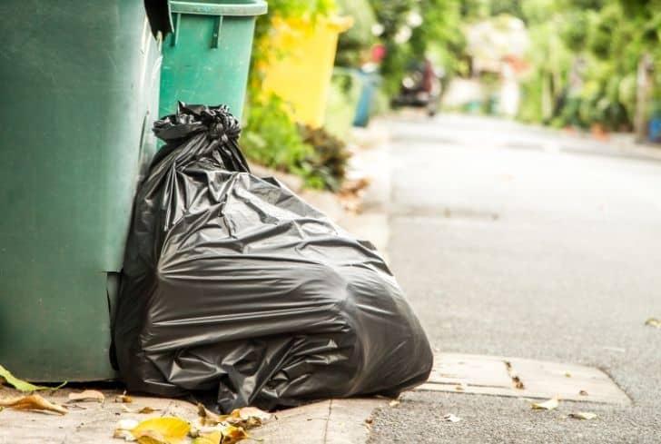 black-garbage-bag